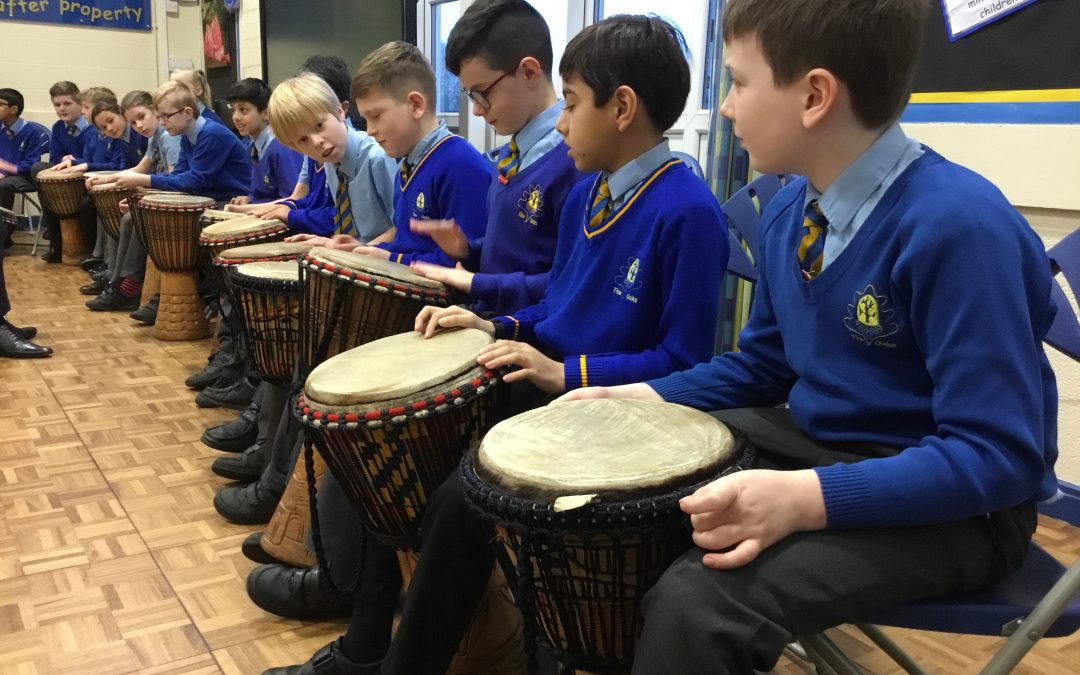 Year 5 drumming assembly